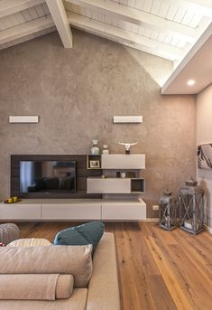 Colors that warm the heart modern living room by studio moltrasio - snc modern Bathroom Interior Design, Interior Design Living Room, Country Style Living Room, Style At Home, Home And Living, Modern Living, Ideal Home, New Homes, House Design