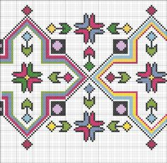 Discover thousands of images about Motif Cross Stitch Borders, Cross Stitching, Cross Stitch Embroidery, Embroidery Patterns, Cross Stitch Patterns, Mochila Crochet, Chart Design, Design Patterns, Border Pattern