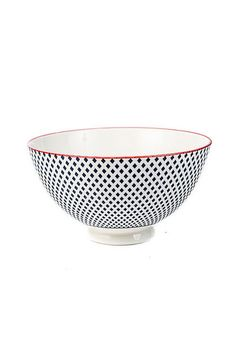 Blue + White Porcelain Dot Bowl via Establishment Home