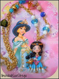 Princess Jasmine Disney polymer clay handmade. by IlmondodiSaxStrega.deviantart.com on @deviantART