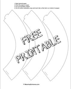 Free Cupcake Liner Printable Make Your Own Outer Liners With Paper To Fit Party Theme
