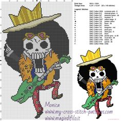 Brooke (One Piece) cross stitch pattern (click to view)