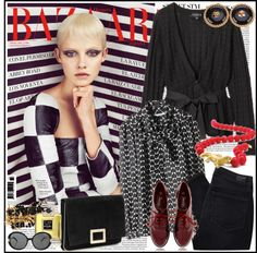 """Harper's Bazaar Spain Feb 2013"" by marthalux ❤ liked on Polyvore"