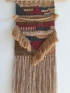 Wall decor. Weaving. Loom. Art. Gallery wall. Fibre Art. Tapestry. Tribal Loom Weaving, Tapestry Weaving, Wall Tapestry, Modern Tapestries, Fibre Art, Woven Wall Hanging, Beautiful Artwork, Wall Hangings, Textile Art