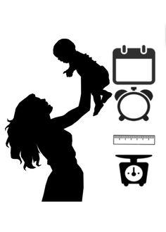 Coreldraw, Silhouette, Art, Birth, Frames, Baby Birth, Diy Crafts, Bebe, Art Background
