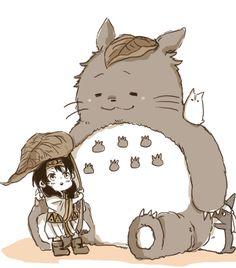 Megumi Tadokoro and Isami Aldini Totoro cross-over Anime-Manga: Shokugeki no Soma Artist: http://www.pixiv.net/member.php?id=2620426