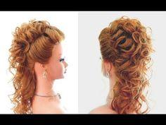 Прическа на выпускной, вечерняя прическа, свадебная прическа. Wedding prom hairstyle