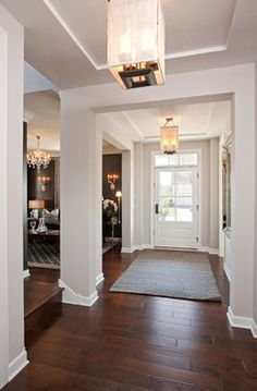 Repose Gray (#7015) Sherwin Williams white trim dark floors,  chose this paint color!