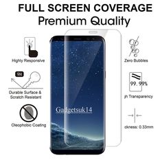100% Genuine Tempered Glass LCD Screen Protector Film For Samsung Galaxy S8 #UnbrandedGeneric