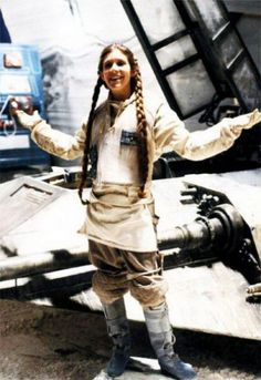 STAR WARS : Shooting photo   Carrie FISHER (Leia ORGANA)   Episode V : The Empire Strikes Back (1980)