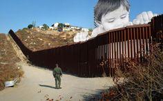 Mexique : une photo géante de JR nargue les Américains à la frontière - Le Parisien