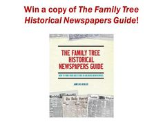 The Family Tree Historical Newspapers Guide Giveaway at Genealogy Bargains