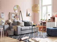 KRIKLA Interior Design London helping busy families to create their homes Gladom Ikea, Ikea Sofa, Basement Remodel Diy, Basement Remodeling, Basement Ideas, Basement Plans, Ikea Kivik, Rustic Basement, Industrial Basement
