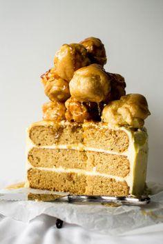 Salted Caramel Croquembouche Cake...O.M.G.