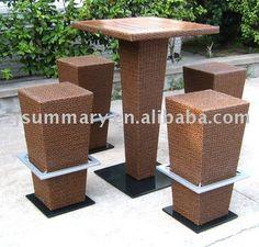 Rattan Outdoor Furniture | Rattan Wicker Outdoor Garden Furniture Bar Set Photo, Detailed about ...