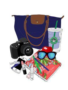 EmmaKisstina Illustrations by Kristina Hultkrantz: Blogger What's in my Bag: Alex of http://www.beautyosauruslex.com/