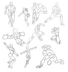 Tutorial Tuesday: Action Pose Character Sheets | idrawdigital - Tutorials for Drawing Digital Comics