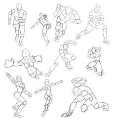 Tutorial Tuesday: Action Pose Character Sheets   idrawdigital - Tutorials for Drawing Digital Comics