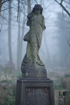 Bow Cemetery- London, England /  photo by Duncan George #cemetery #graveyard #sculpture