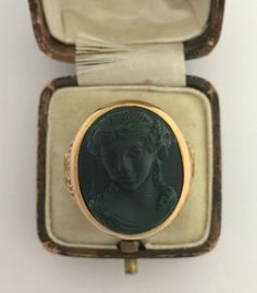 A Magnificent Bloodstone Lady Cameo Intaglio Ring Circa 1800's  in Jewellery & Watches, Vintage & Antique Jewellery, Vintage Fine Jewellery | eBay!