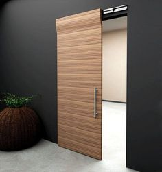 modern sliding wooden doors - Things You Ought To Know About Sliding Doors – Interior Design Modern Closet Doors, Modern Sliding Doors, Modern Door, Modern Barn, Double Doors, Sliding Door Design, Sliding Closet Doors, Sliding Barn Door Hardware, Sliding Wardrobe