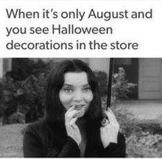 It's July 25 and there are pumpkins in Michael's already!  Hooray! Funny Halloween Memes, Spooky Memes, Halloween Quotes, Halloween Art, Halloween Decorations, Halloween Countdown, Spooky Scary, Halloween 2019, Halloween Stuff