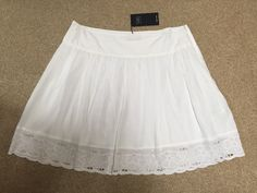 M&S Collection PURE COTTON Ladies Summer Lined SKIRT BNWT UK16 Embroidered hem | eBay