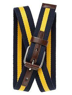 Banana Republic Striped Webbed Belt