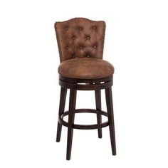 251 First Evelyn Chocolate Swivel Counter Stool