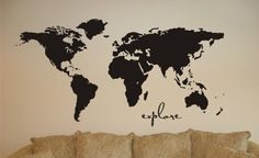 travel quotes Vinyl Wall Map