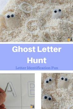 Your kids will love learning their letters with these spooky ghost invisible letters! They can hunt for letters, numbers, or even sight words! #ghost #letters #sightwords #Halloween #preschool #kindergarten