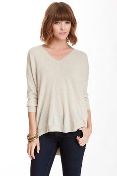 3/4 Length Sleeve Split Back Cashmere Sweater by Autumn Cashmere on @HauteLook