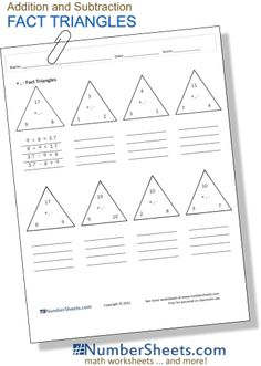 math worksheet : addition worksheet  adding complements of 10 all  school  : Inverse Addition And Subtraction Worksheets