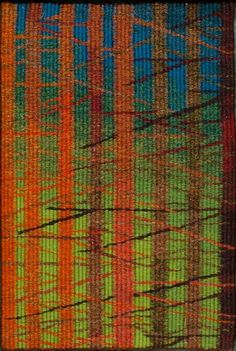 Through The Forest tapestry by Louise Oppenheimer available at http://www.creativeartsgallery.com/art/tapestry-textile-art/through-the-forest/