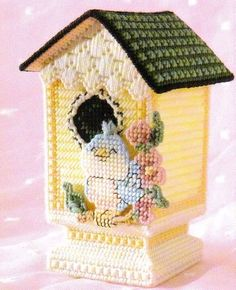 Bluebird Song Birdhouse Box Plastic Canvas Pattern Instructions Only from A Book | eBay