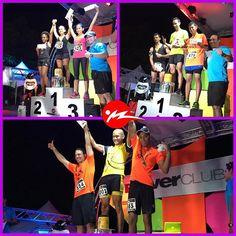 Ganadores de varias de las categorías en la Carrera #FoamNightParty @powerclubpanama
