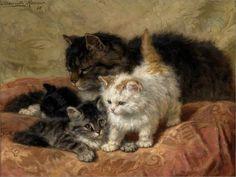 Les chats par les peintres - Henriette Ronner-Knip (1821-1909)