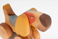 Wood Toy Pull Dog Wooden Toy for Toddler