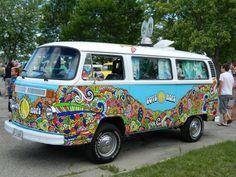 Amazing artwork!!! Hippie bus!