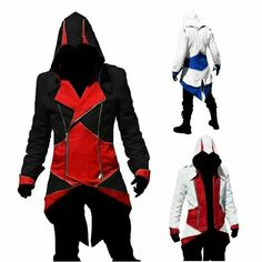 Assassin's Creed III Connor Kenway Coat Jacket Hoodie Cosplay Costume i want the black and red xD Moda Geek, Best Hoodies For Men, Assassins Creed Hoodie, Connor Kenway, Surfer, Hoodie Jacket, Swagg, Cosplay Costumes, Ideias Fashion