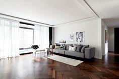 레트로 무드를 더한 북유럽 스타일의 집 : 네이버 매거진캐스트 Home And Living, Living Room, Dining Bench, Sweet Home, Flooring, Luxury, Interior, House, Furniture