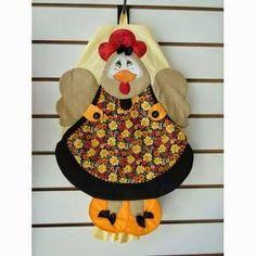 Eu Amo Artesanato: Puxa saco de galinha com molde