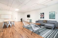 Rent meeting space at 374 Brannan Street, Floor, Room 3 daily or hourly with Breather. Book office space in SoMa, SF Bay Area. Interior Design Work, 2nd Floor, Flooring, Space, Bay Area, Table, Room, San Francisco, Inspiration