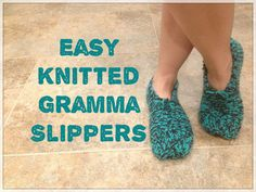 Picture of Easy Knitted Gramma Slippers