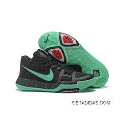 db96226f474 2017 Nike Kyrie 3 Black Green Glow Basketball Shoes Lastest
