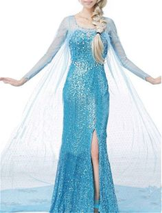 cool Top One Princess Snow Fancy Style Dress Cosplay Costume Dress