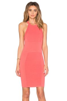 Parker dress red and black cutout