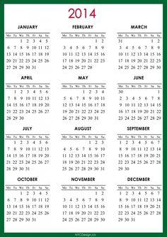 free 2014 monthly calendar 2014 calendar printable blank calendar template pocket calendar yearly