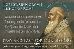 Pope Saint Gregory VII, Bishop of Rome #catholic