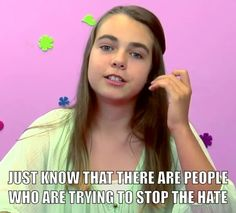 """Words of encouragement from Elle of """"Kids React"""" in response to bullying."""
